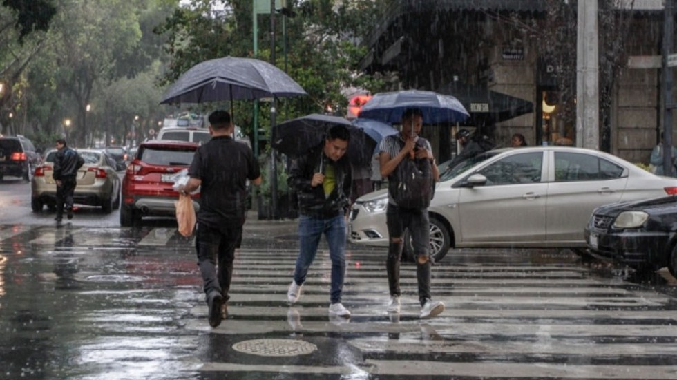 Este Lunes se prevén lluvias fuertes al Oriente, Sur y Poniente de la Capital