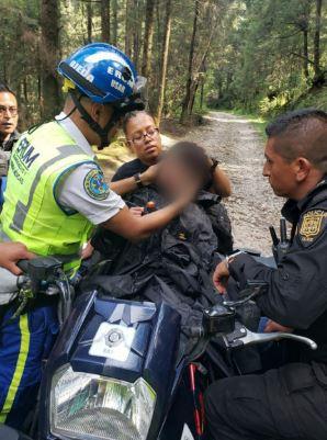 SSC rescata a un menor extraviado en la zona boscosa de Cuajimalpa y lo reúne con su Familia