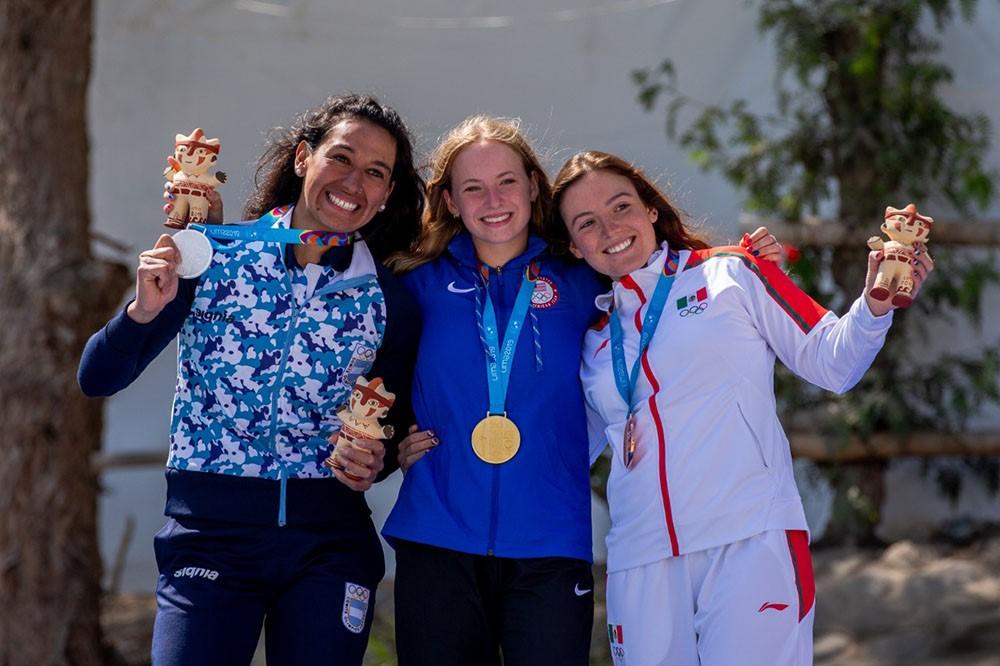 Par de bronces para Sofía Reinoso en el canotaje slalom panamericano