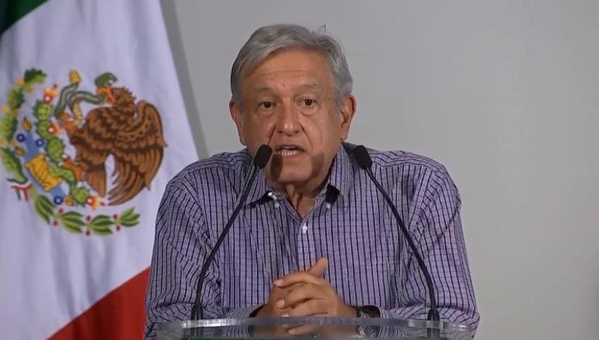 En Tuxpan, presidente López Obrador pide castigo a responsables de masacre en El Paso