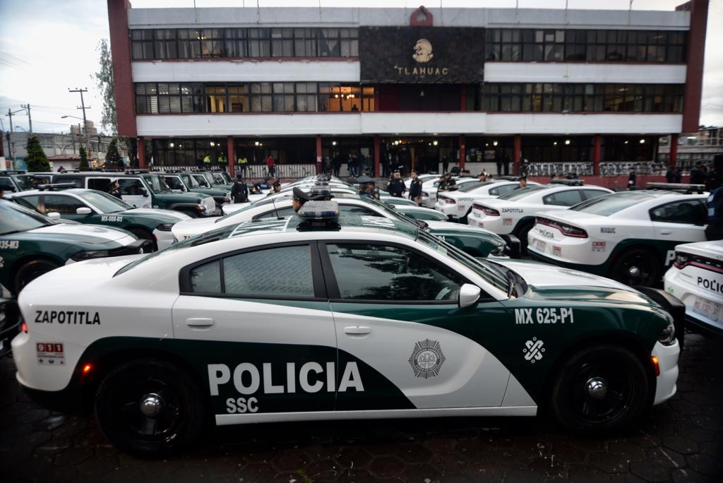 Con 34 nuevas Patrullas otorgadas por la Jefa de Gobierno y el Titular de la SSC la Alcaldía de Tláhuac incrementa la seguridad