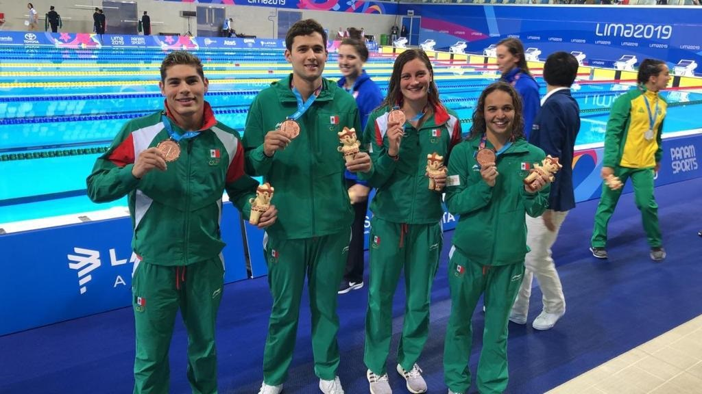 Entrega natación segunda medalla para México en Lima 2019