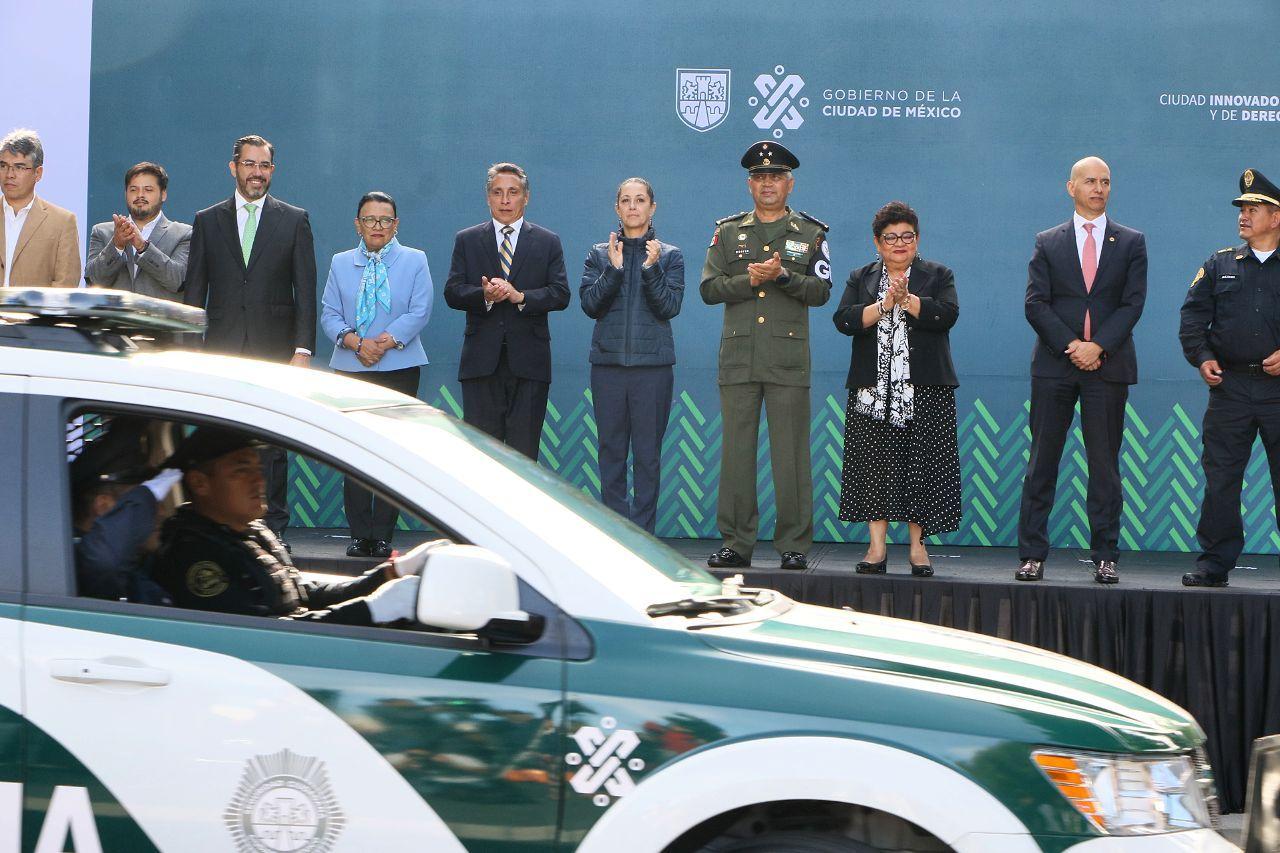 La Jefa de Gobierno y el Titular de la SSC entregan 113 Patrullas Nuevas en la Alcaldía Coyoacán