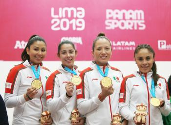 Paola Longoria máxima medallista de oro para México en Juegos Panamericanos