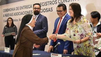Entregan 108 Nuevos Registros Constitutivos a nuevas Asociaciones Religiosas