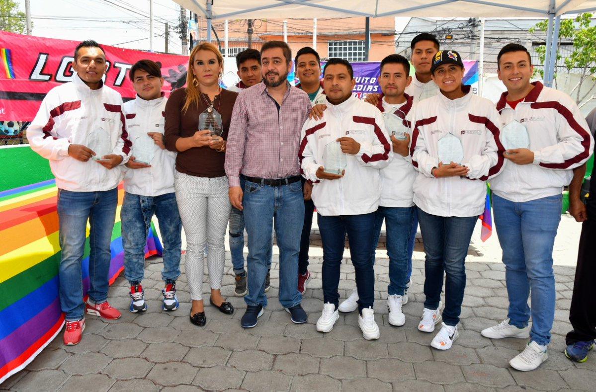 Reconocimiento a la Liga de Futbol LGBTTTI en Azcapotzalco