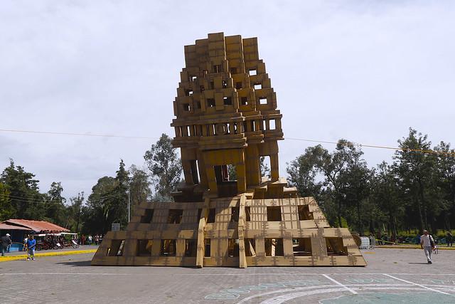 Despiden Arquitectura efímera en el Bosque de Tláhuac