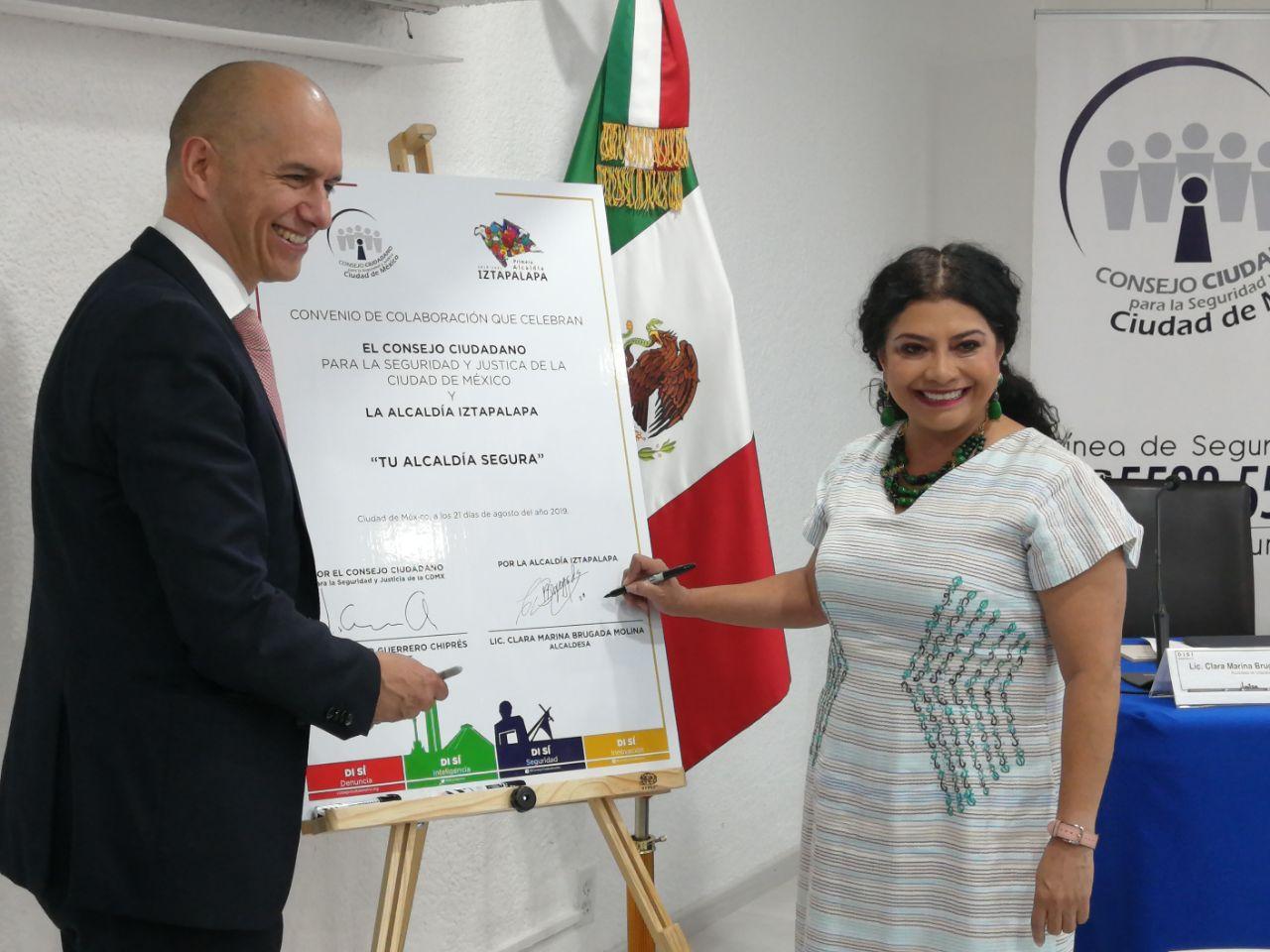 Acuerdan Alcaldía Iztapalapa y Consejo Ciudadano colaborar para fortalecer tendencia a la baja de índices delictivos