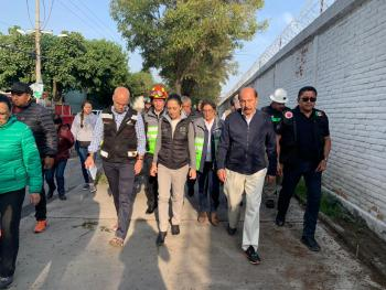 Interviene Gobierno de la CDMX con acciones preventivas en la Avenida Añil