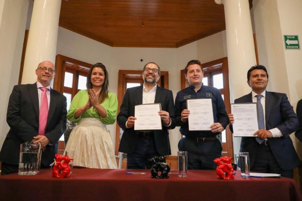 Alcaldía Cuauhtémoc y Estado de Colima fiman convenio de colaboración