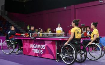 Plata para el tenis de mesa femenil en equipos en Parapanamericanos Lima 2019
