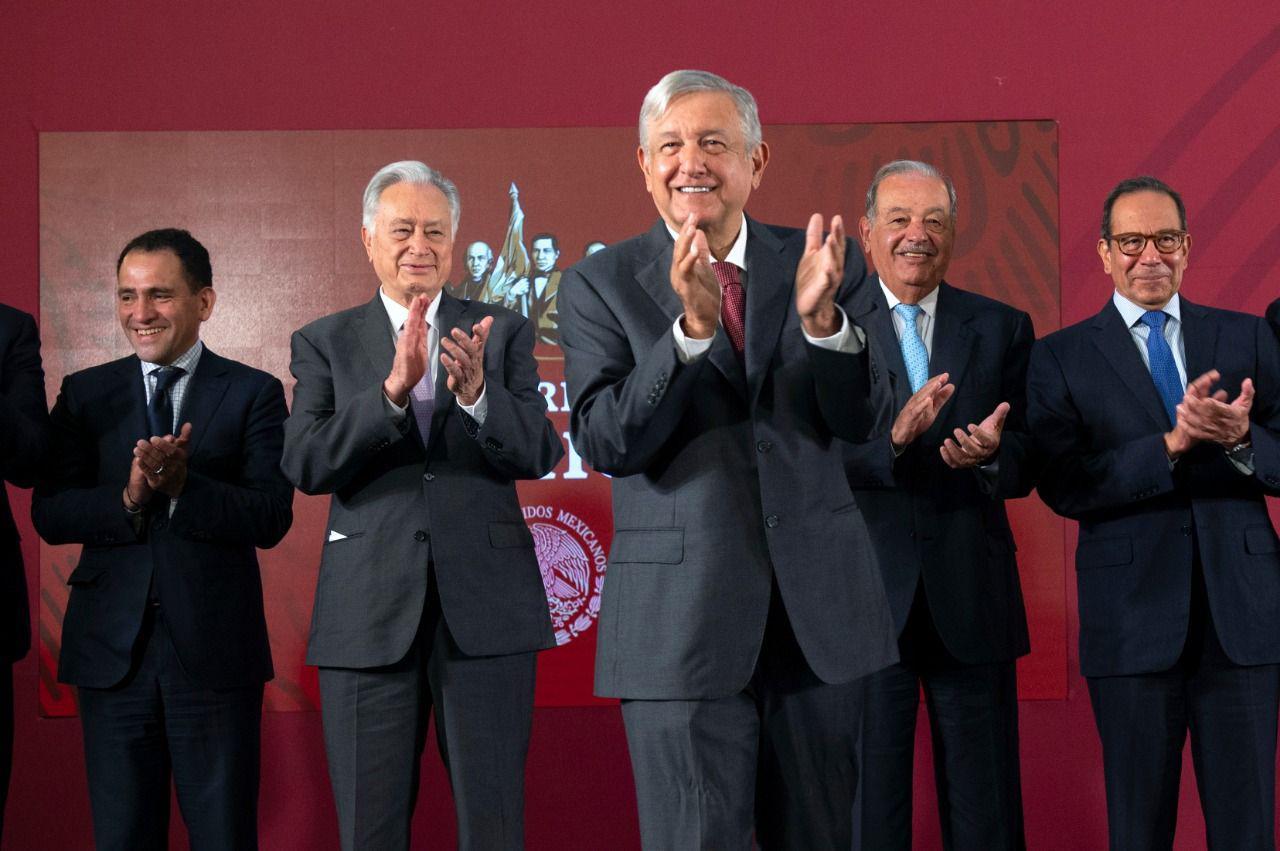 Presidente López Obrador anuncia acuerdo con empresas de gasoductos