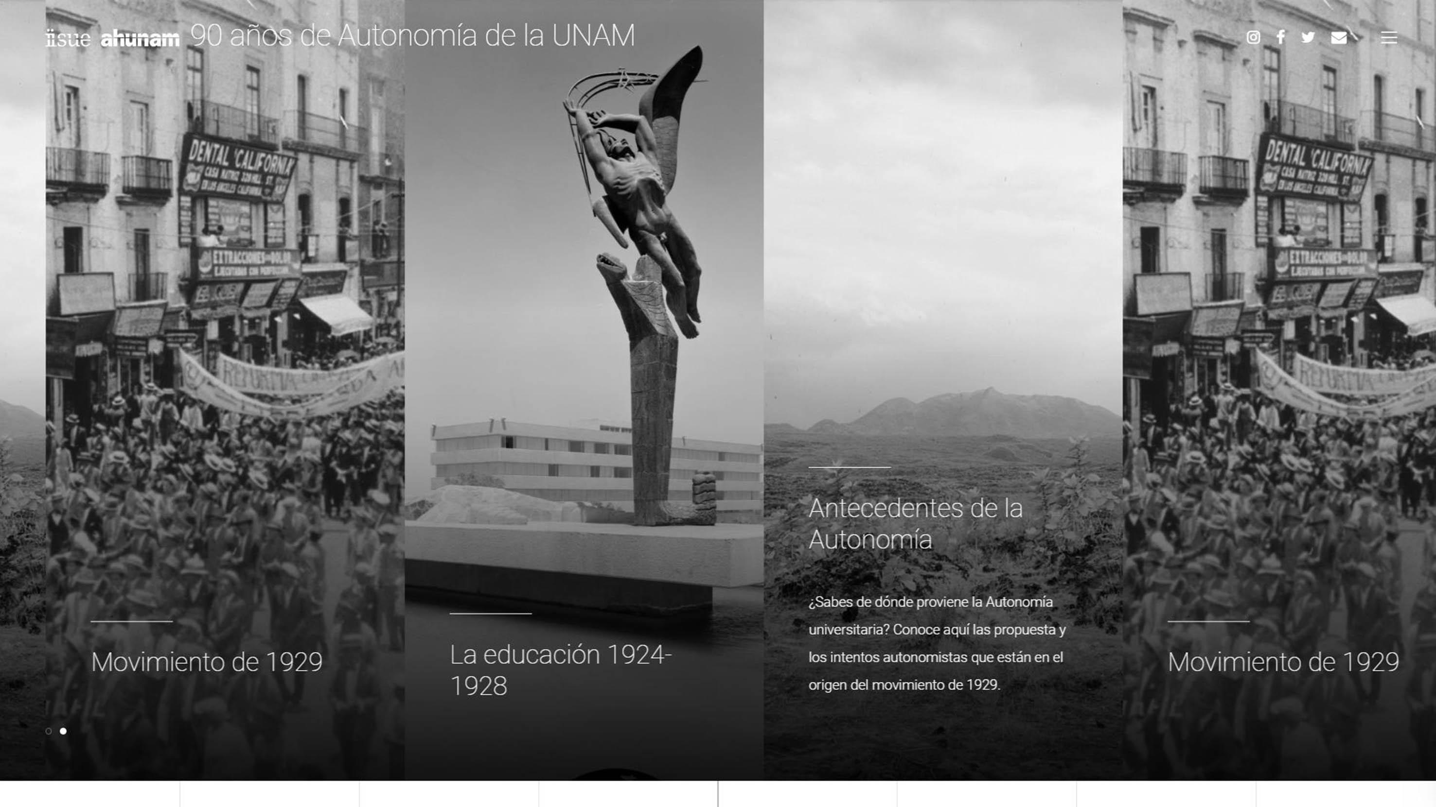 Presentan el Portal 90 Años de Autonomía de la UNAM