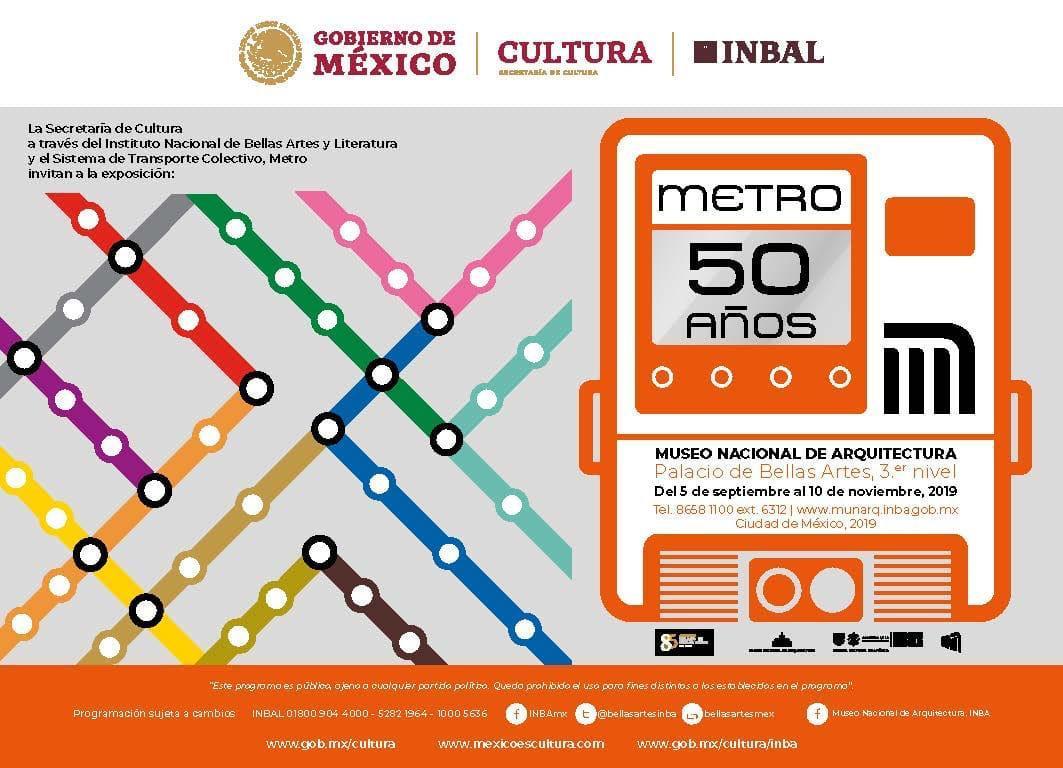 La CDMX conmemora 50 años del Metro
