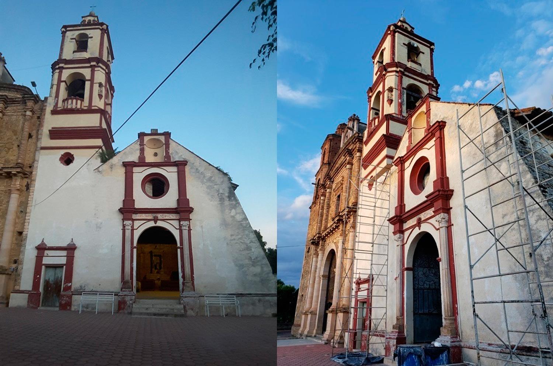 INAH restaura joya de la arquitectura religiosa en Guerrero dañada por los sismos de 2017