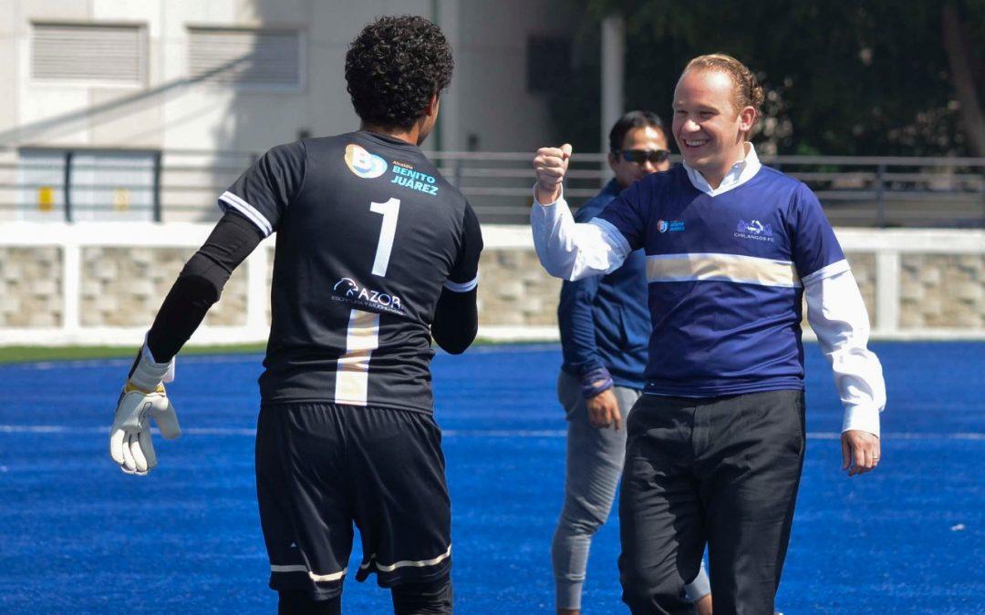 Presenta Santiago Taboada al equipo profesional de tercera división representativo de Benito Juárez Chilangos FC
