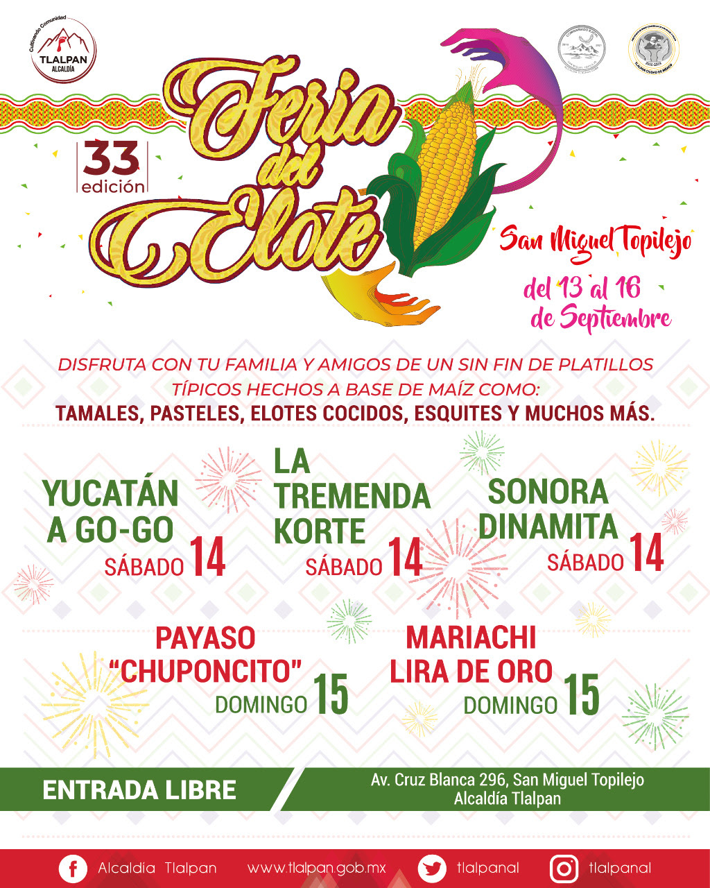 Tlalpan celebrará Feria del Elote