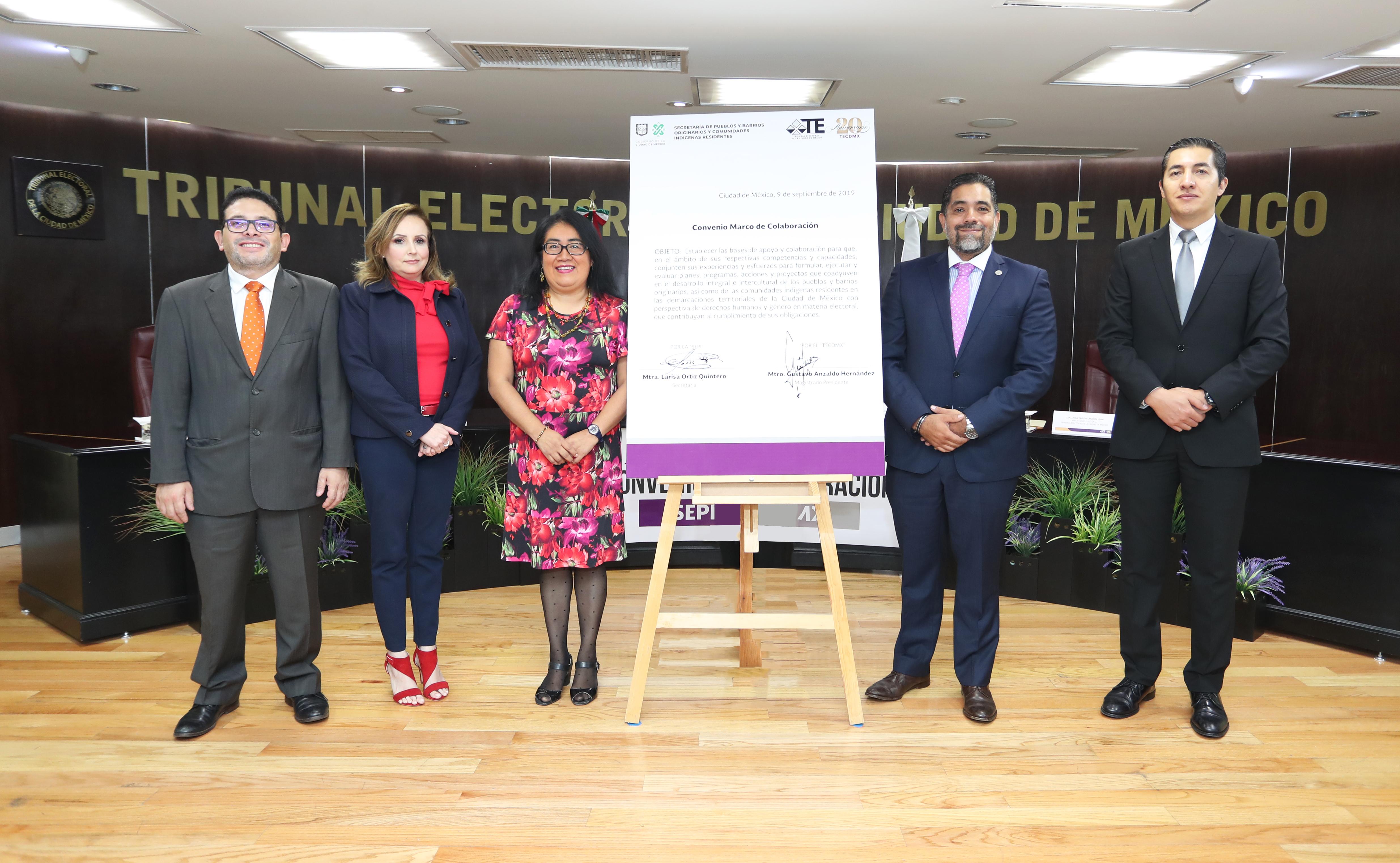 Emprenderán TECDMX y SEPI acciones conjuntas en favor de Pueblos y Barrios Originarios y Comunidades Indígenas de la CDMX