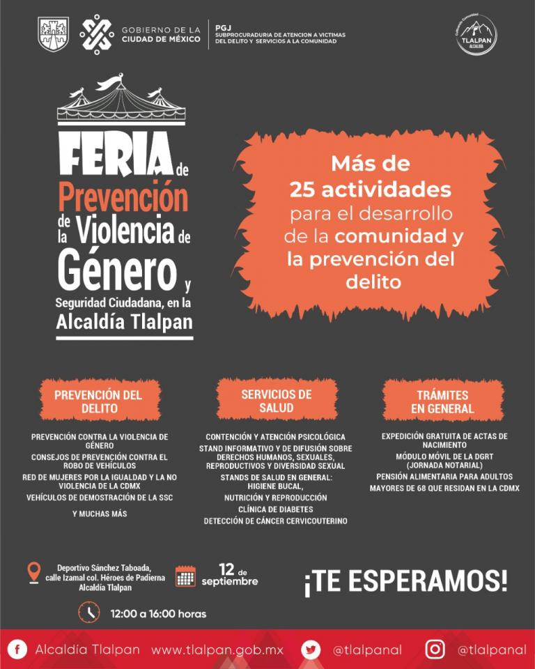 Tlalpan impulsa Feria de Prevención contra la violencia de género