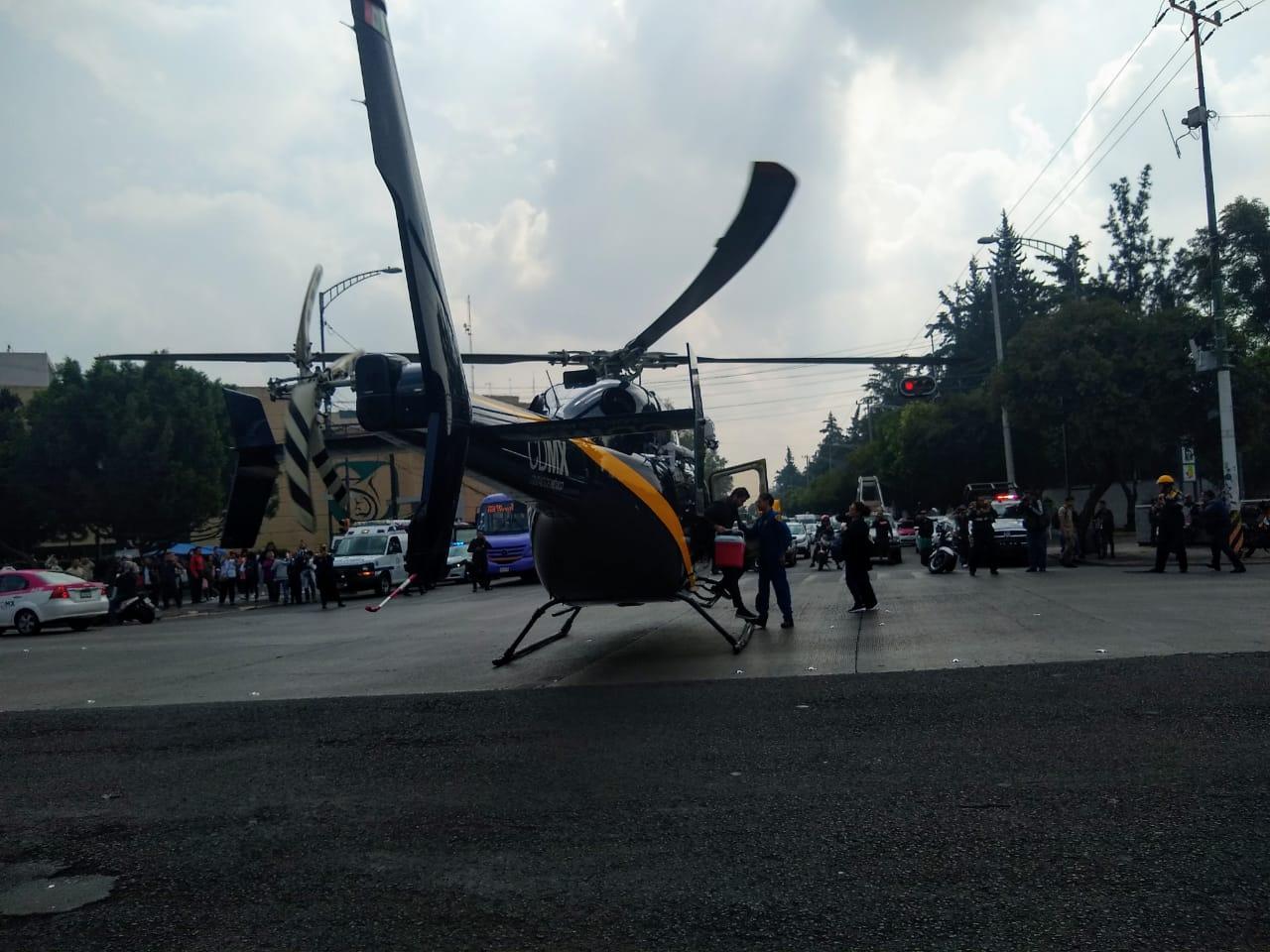 Cóndores de la SSC brindan Ambulancia Aérea para trasladar un corazón al Hospital Infantil de México