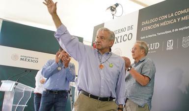 Presupuesto 2020 asignará 40 mil mdp adicionales a salud, informa presidente López Obrador en Soto la Marina