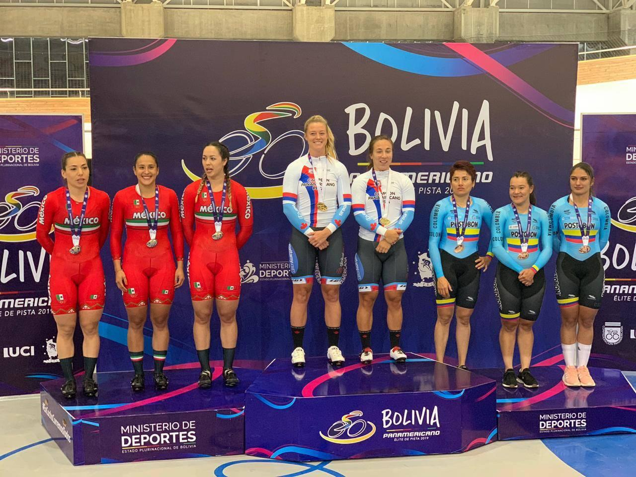 Tercer lugar para México en Panamericano de Ciclismo de Pista en Bolivia