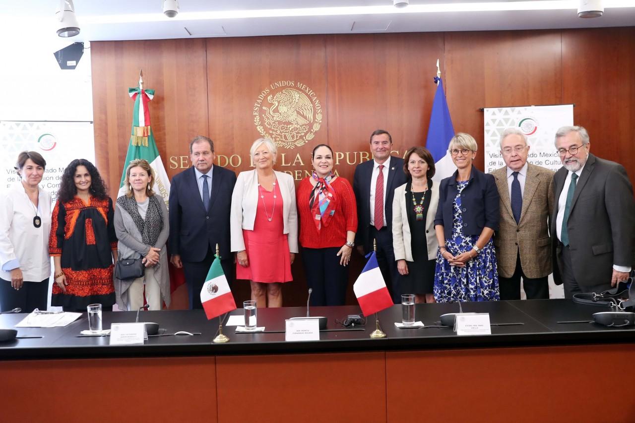 Recibe Mónica Fernández Balboa a delegación de legisladores franceses