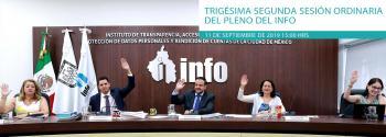Trigésima Segunda Sesión Ordinaria del Pleno del INFO