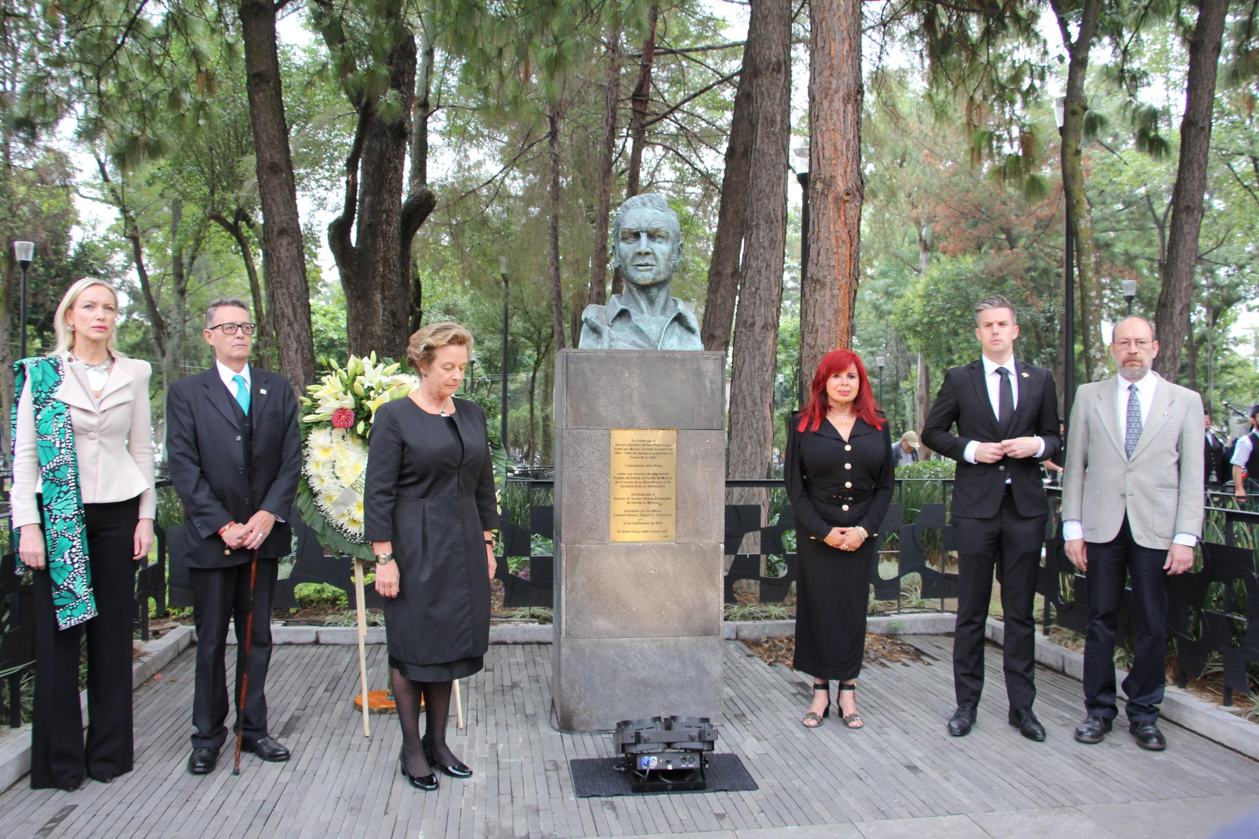 Layda Sansores asiste a conmemoración del 172 Aniversario de la Gesta Heroica del Batallón de San Patricio