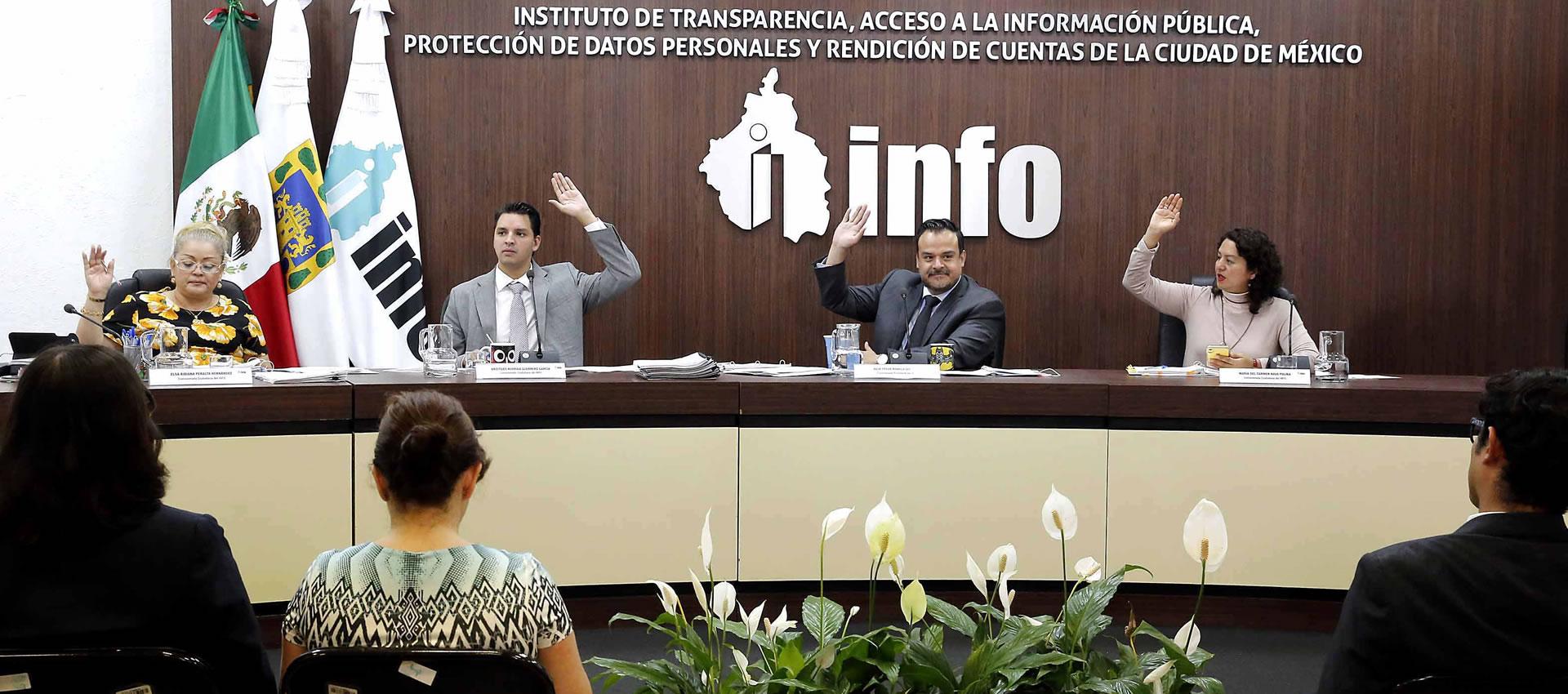 El INFO aprueba suscribir un Convenio de colaboración con la Comisión para la Reconstrucción de la CDMX
