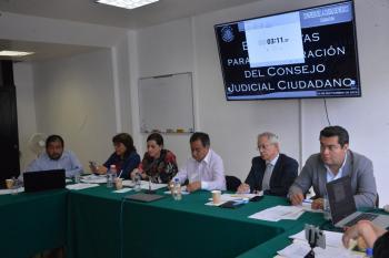 El Consejo Judicial Ciudadano tendrá una visión jurídica, social y con perspectiva de género