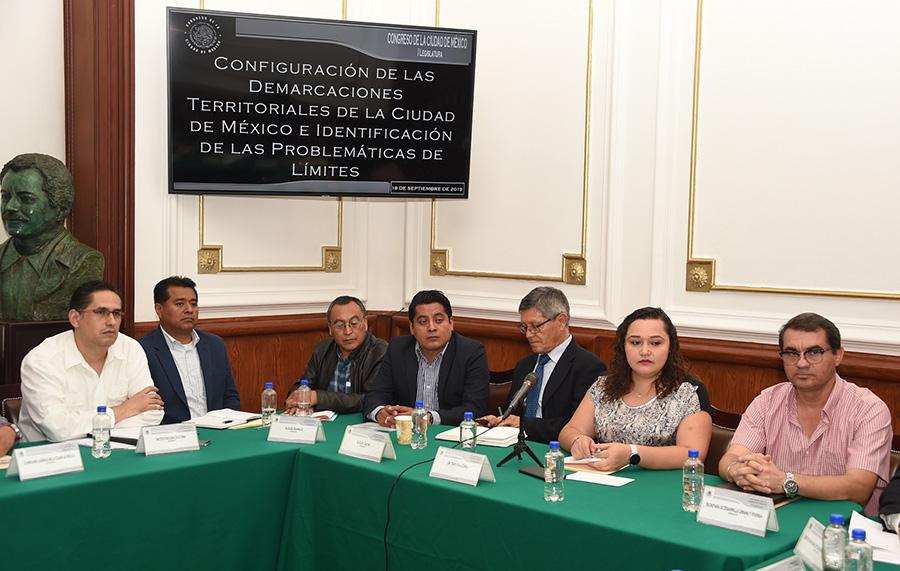 Continúa en el Congreso local el análisis de límites territoriales entre las alcaldías del sur y sur-oriente de la ciudad