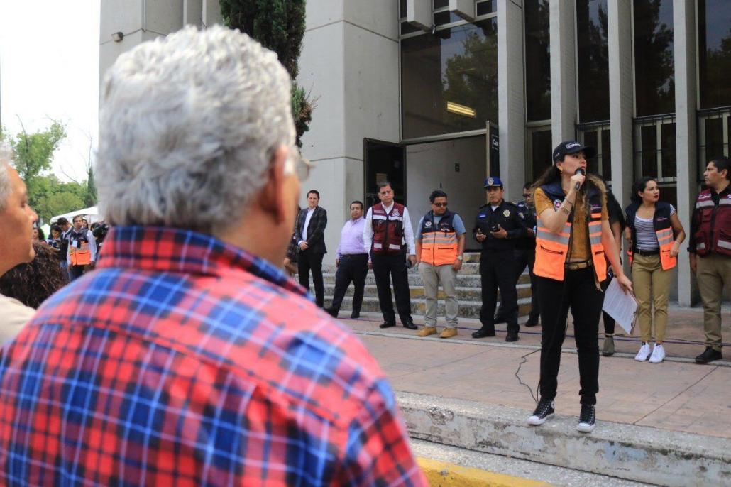 Con homenajes y prácticas de protección civil la Cuauhtémoc conmemoró el 19S