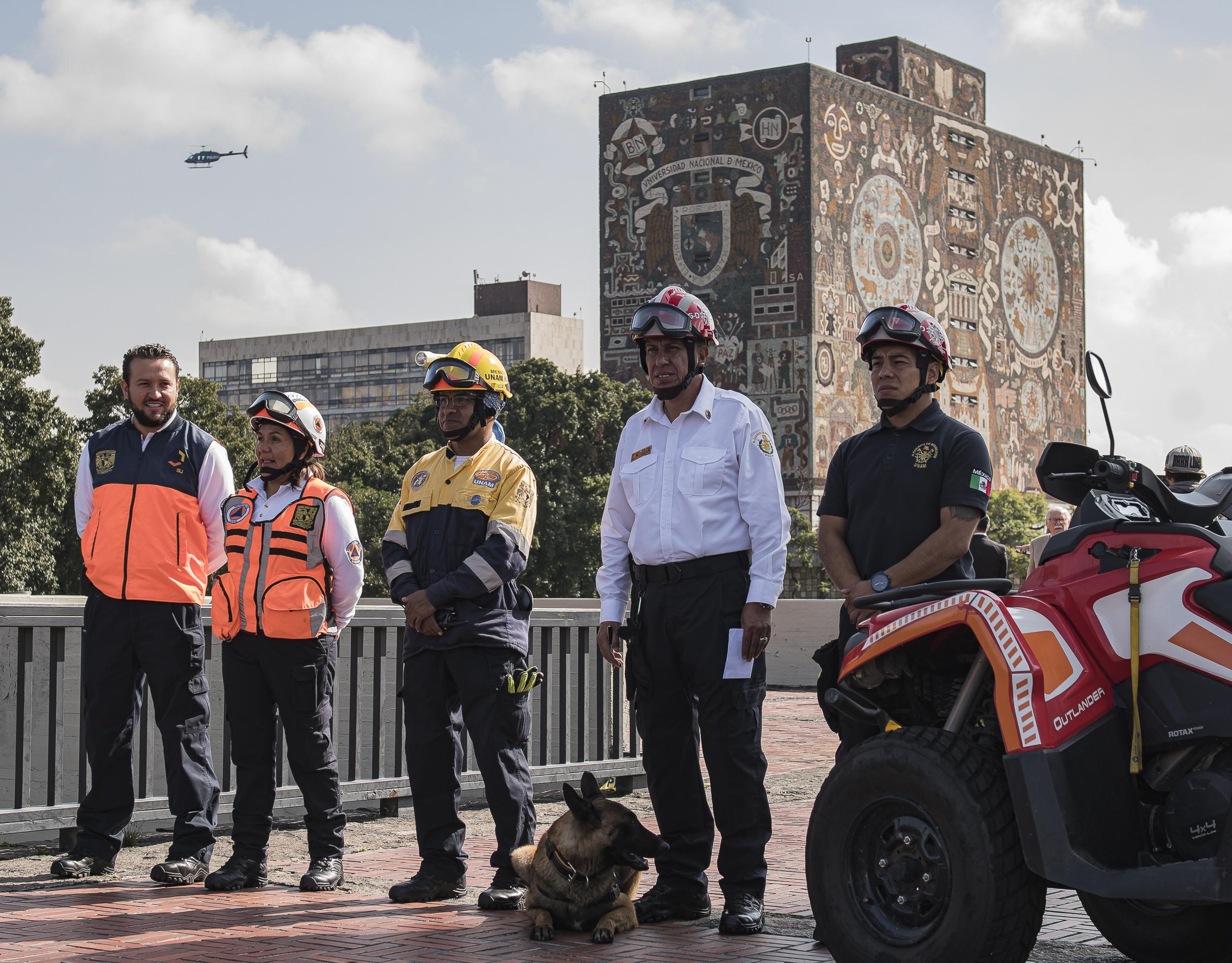 Mejora Capacidad de Respuesta de la UNAM en el Macrosimulacro 2019