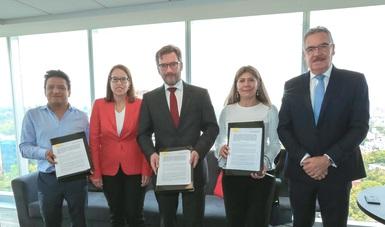 Suscriben convenio de colaboración la Secretaría de Economía y la Fundación Alemana de Cajas de Ahorro para la Cooperación Internacional