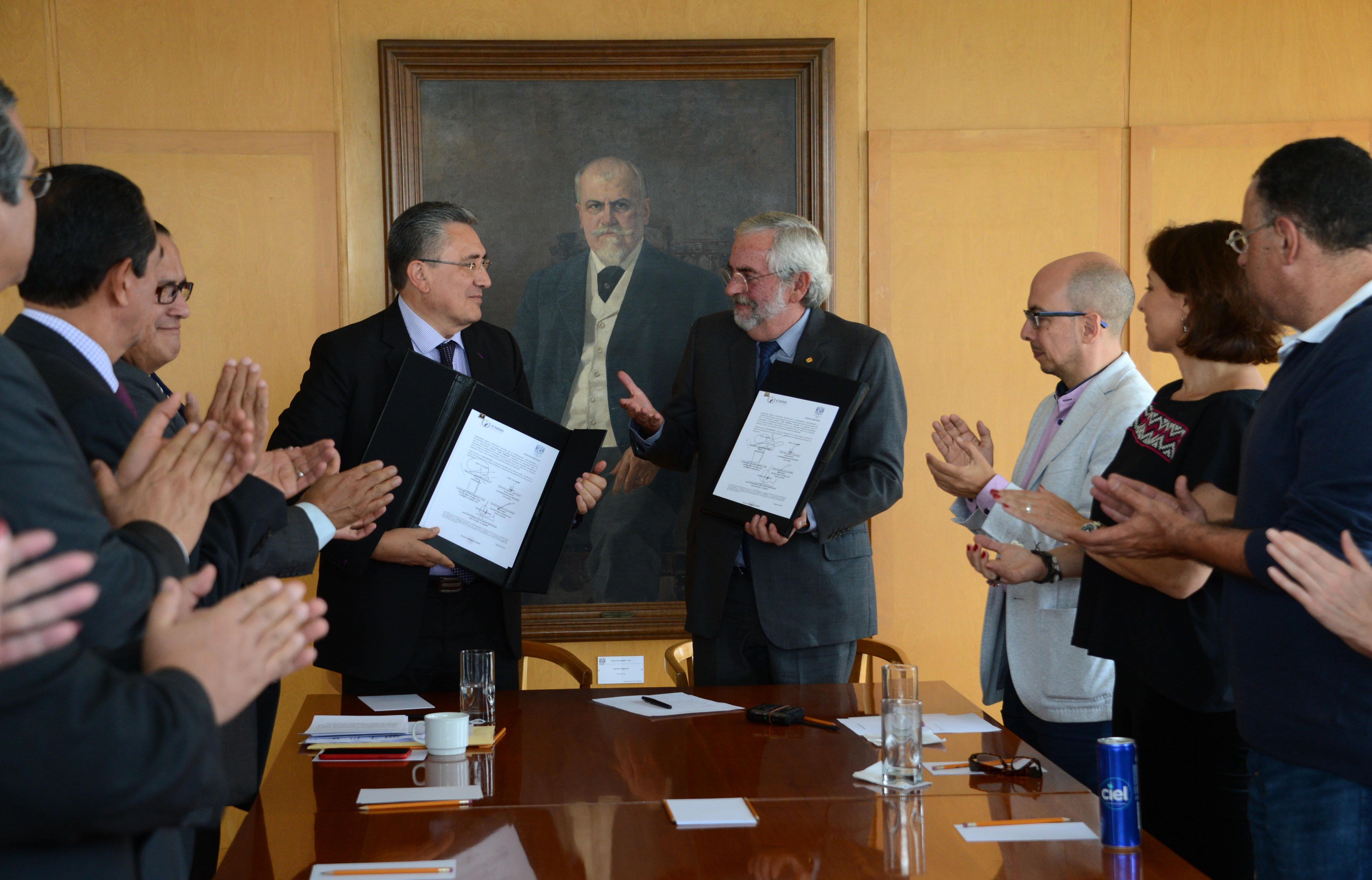 Firman Convenio UNAM y CNDH para realizar Actividades Conjuntas de la Cátedra Nelson Mandela
