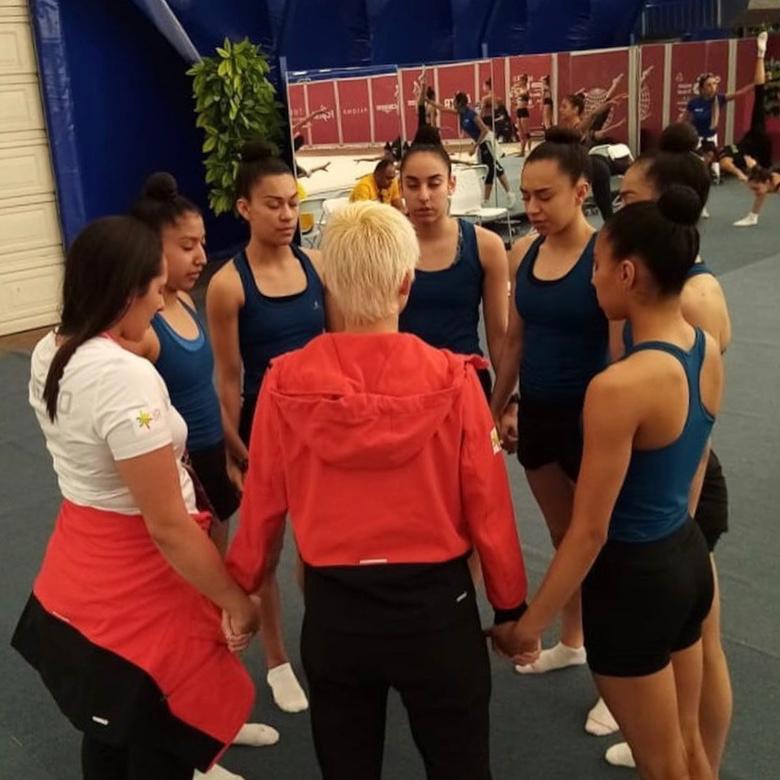 Conjunto de gimnasia artística, con balance positivo luego del Mundial: entrenadora Blajaith Aguilar