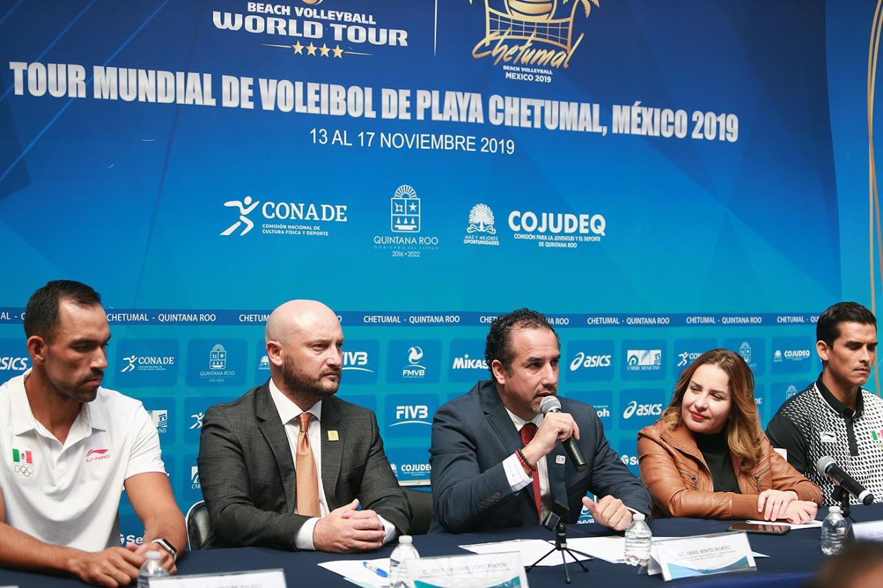 Presentan el Tour Mundial de Voleibol de Playa Chetumal 2019