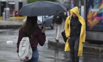 Se pronostican lluvias fuertes dispersas al Sur de la Ciudad