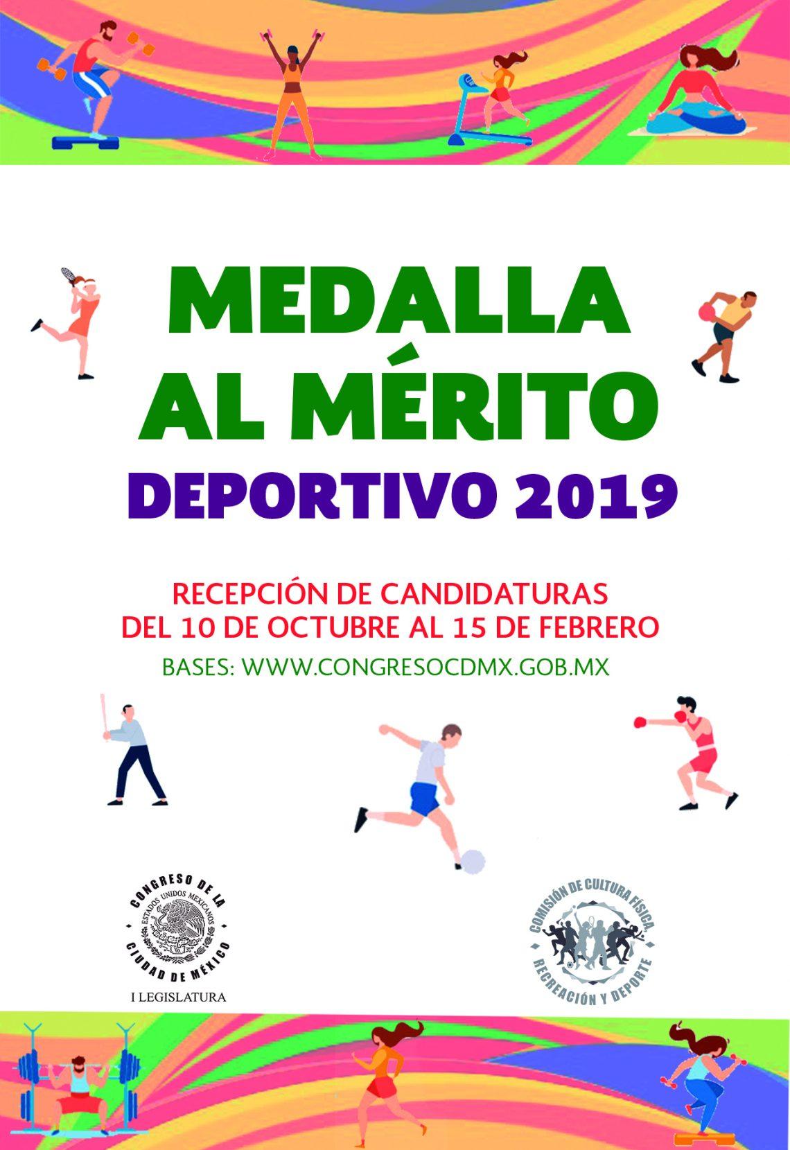 "Convocatoria a la ""Medalla al Mérito Deportivo 2019"""