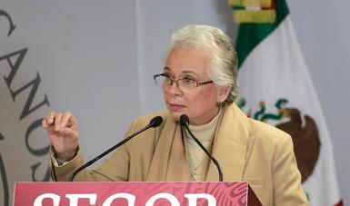 Encabeza secretaria Olga Sánchez Cordero presentación de plataforma digital para el reporte de personas desaparecidas o no localizadas