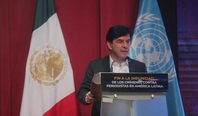 Vocero Ramírez Cuevas anuncia compromisos del Gobierno de México con periodistas