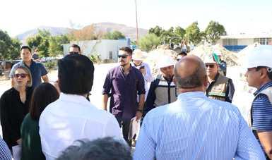 Supervisan funcionarios de Sedatu avance de obras del PMU en Sonora y Baja California
