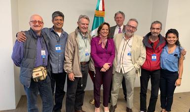 Recibe subsecretaria Martha Delgado a un contingente dela 2ª Marcha Mundial por la Paz y la No Violencia