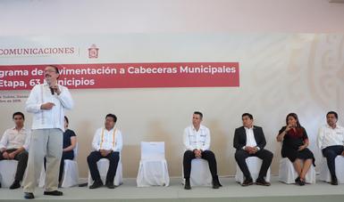 Arranca la segunda etapa del Programa de Construcción de Caminos de Acceso a Cabeceras Municipales