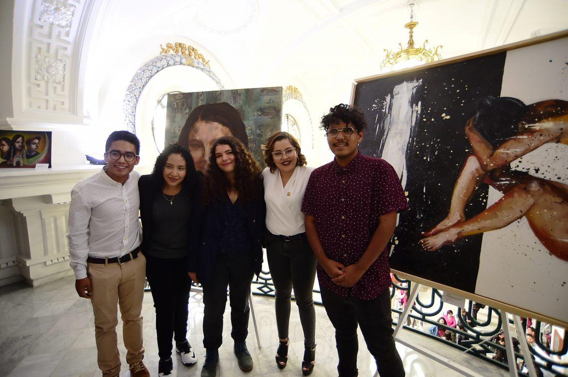 Promueven derechos de la juventud a través de obras pictóricas