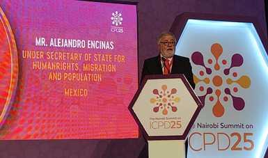 Comprometido Gobierno de México en garantizar a las mujeres el acceso a una vida libre de violencia, sostiene Alejandro Encinas en Nairobi