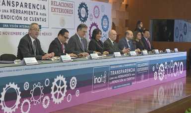 Participa la secretaria Irma Sandoval en la inauguración de la Semana Nacional de la Transparencia