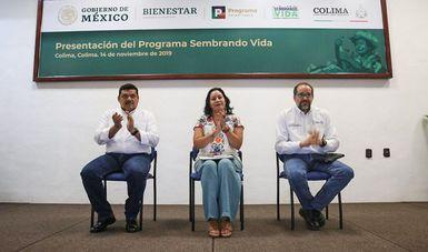 Presentan el Programa Sembrando Vida en Colima y Michoacán