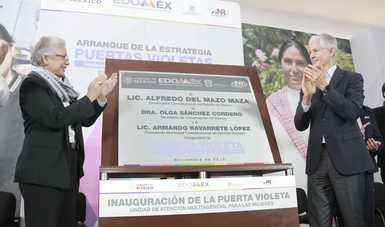 """Encabeza Olga Sánchez Cordero arranque de la estrategia """"Puertas Violeta"""" en el Edomex; atenderá y protegerá a mujeres víctimas de violencia"""